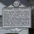 WV Historical Marker Seaberry Arms Osborne