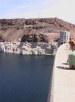 Lake Mead side of dam